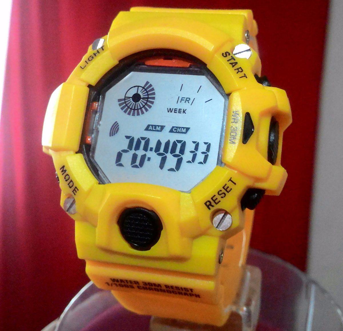 307d8799b2f relógio esportivo masculino digital fashion sem logo amarelo. Carregando  zoom.