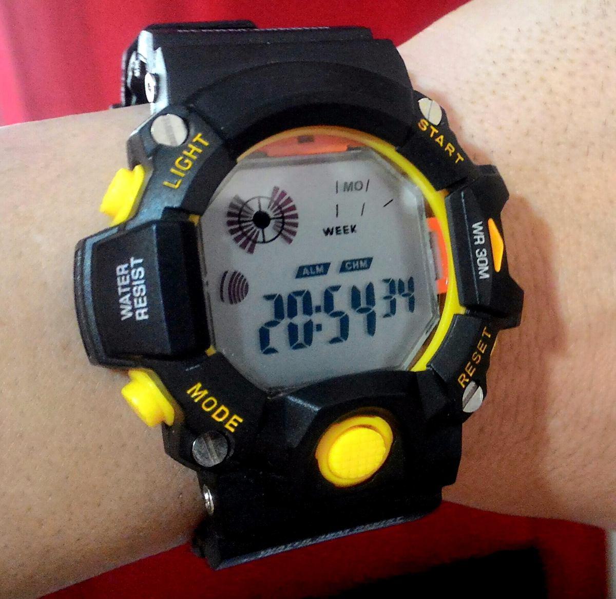 b309355f178 relógio esportivo masculino digital fashion sem logo - black. Carregando  zoom.