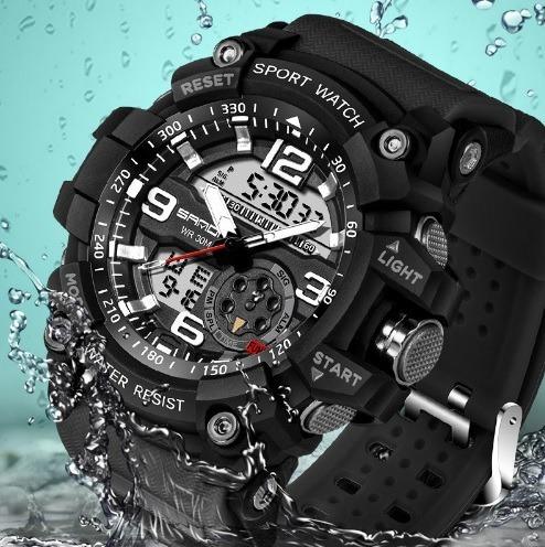 relógio esportivo masculino g-shock sanda à prova d'agua