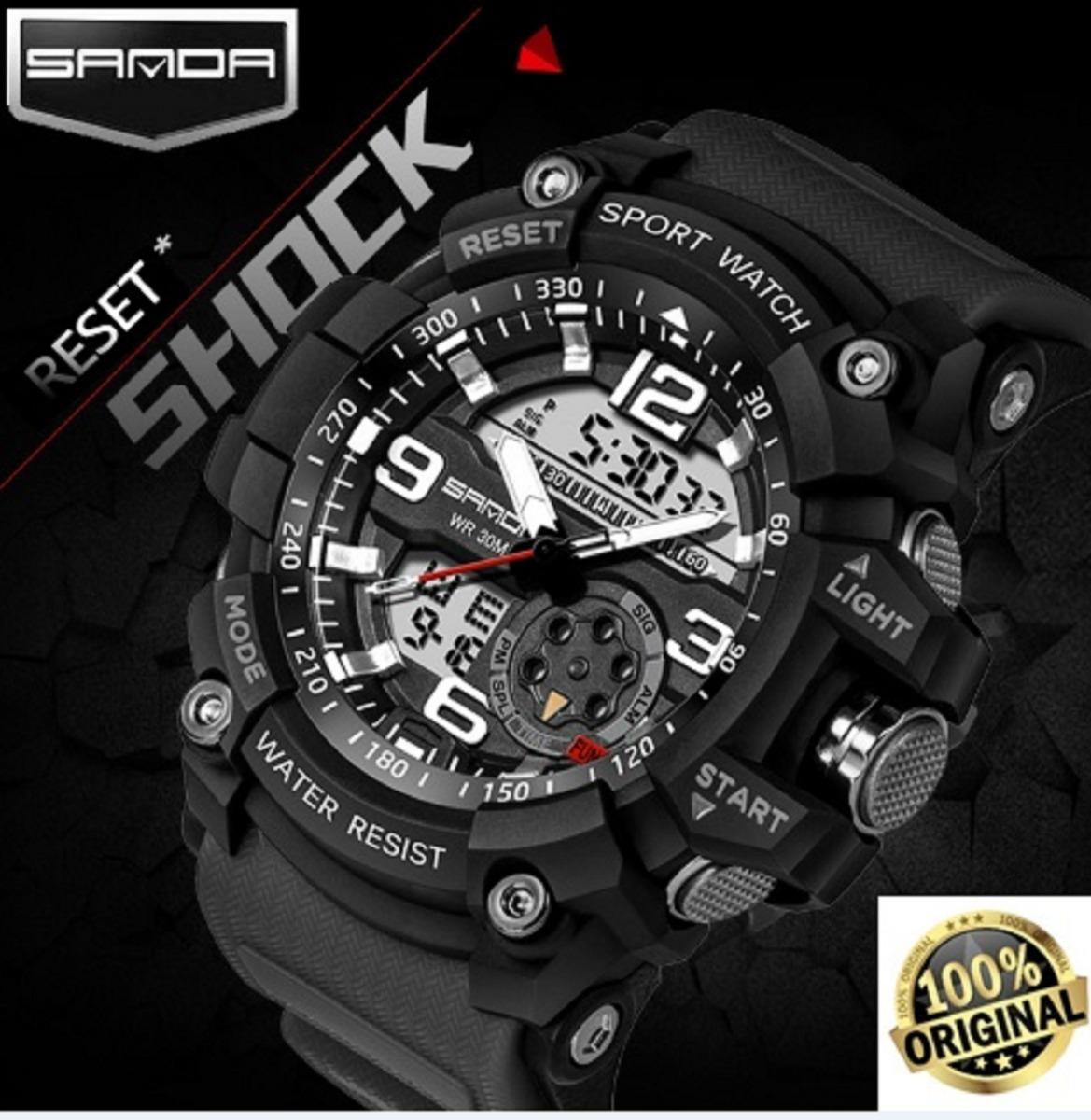 3d1013e7311 relógio esportivo masculino g-shock sanda à prova d agua. Carregando zoom.