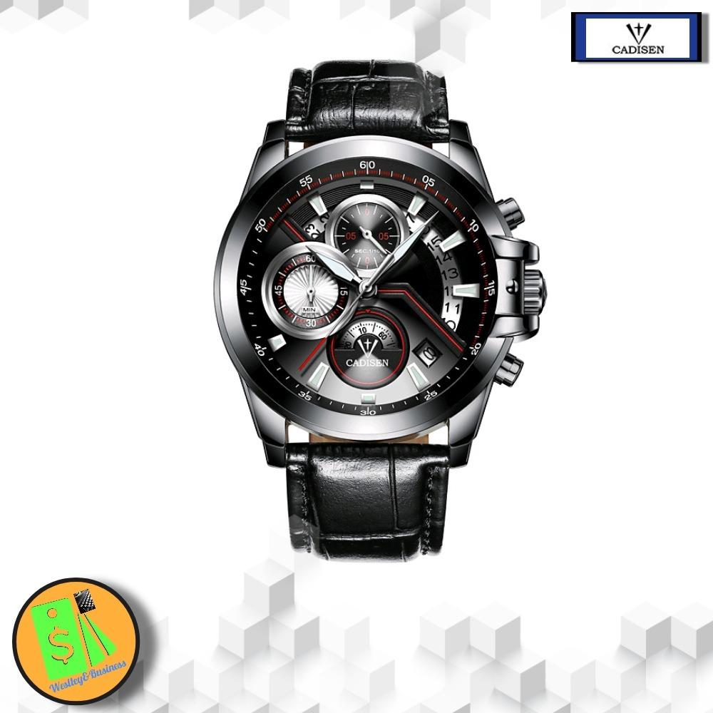 e9f18b2b98b relógio esportivo masculino impermeável pulseira em couro. Carregando zoom.