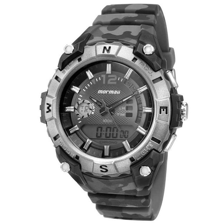 d9346bf535d Relógio Esportivo Masculino Mormaii Anadigi 10atm Mo1011a 8p - R  398