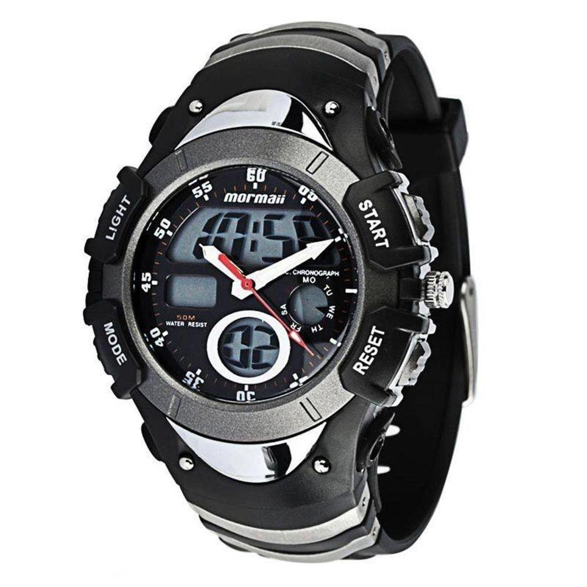 4d4c87d123e73 Relógio Esportivo Masculino Mormaii Anadigi 7870m8c - R  259,00 em ...