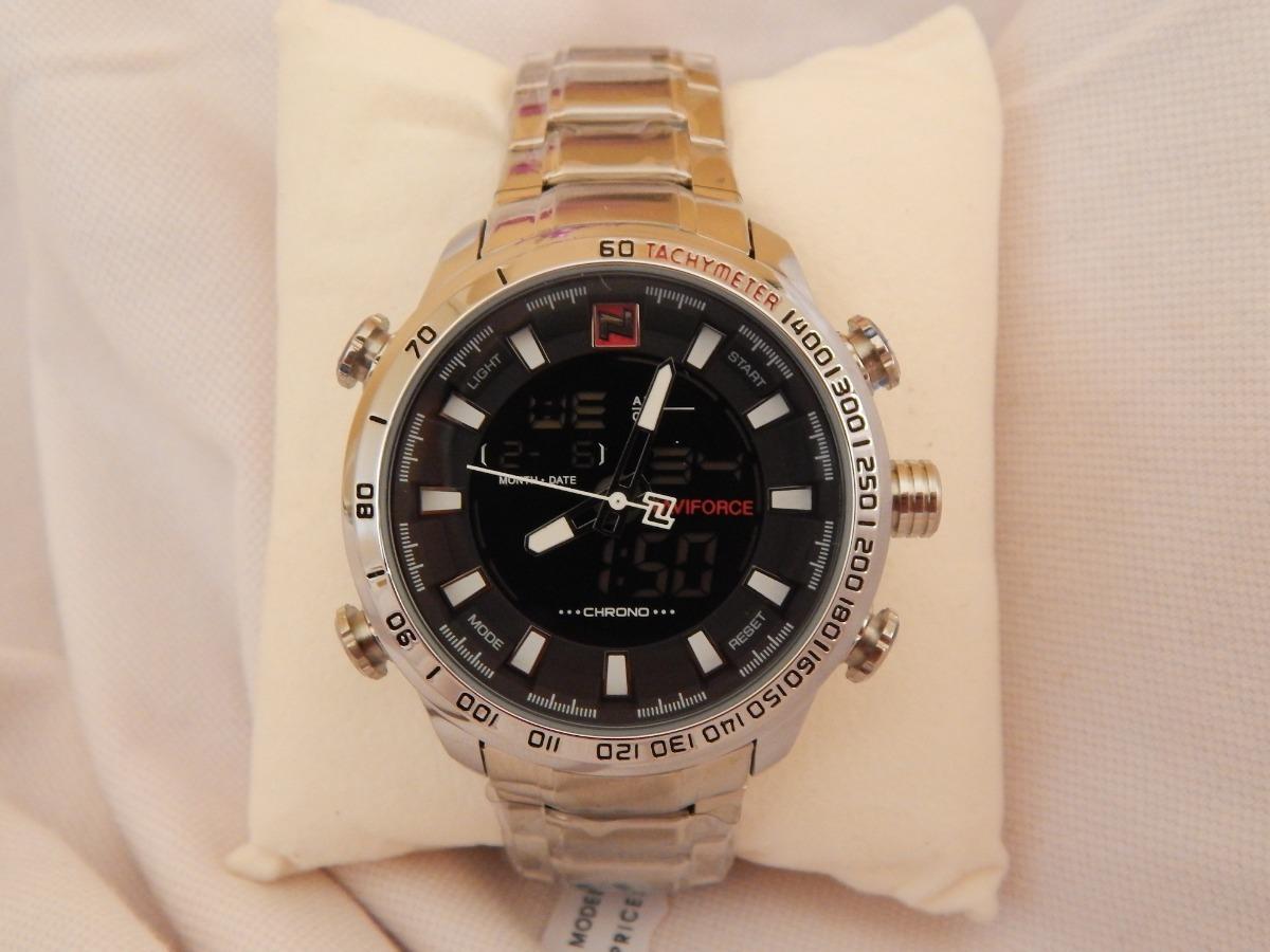 18dbb36e1a6 Relógio Esportivo Masculino Naviforce 9093 Frete Grátis - R  120