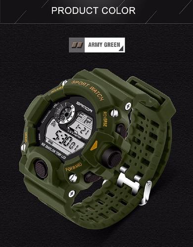 relógio esportivo masculino s-shock sanda militar verde show
