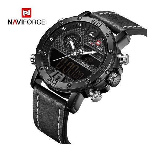relógio esportivo militar à prova d'agua naviforce top + nf