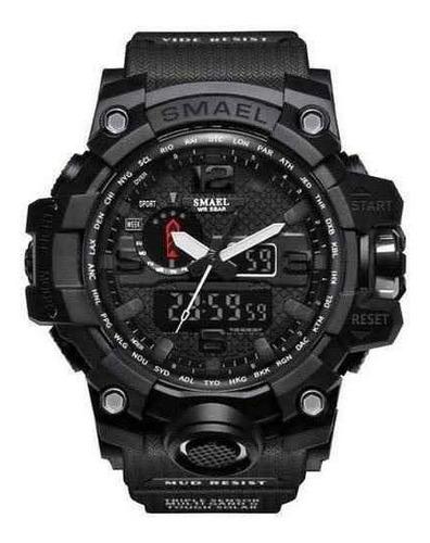relógio esportivo militar smael black