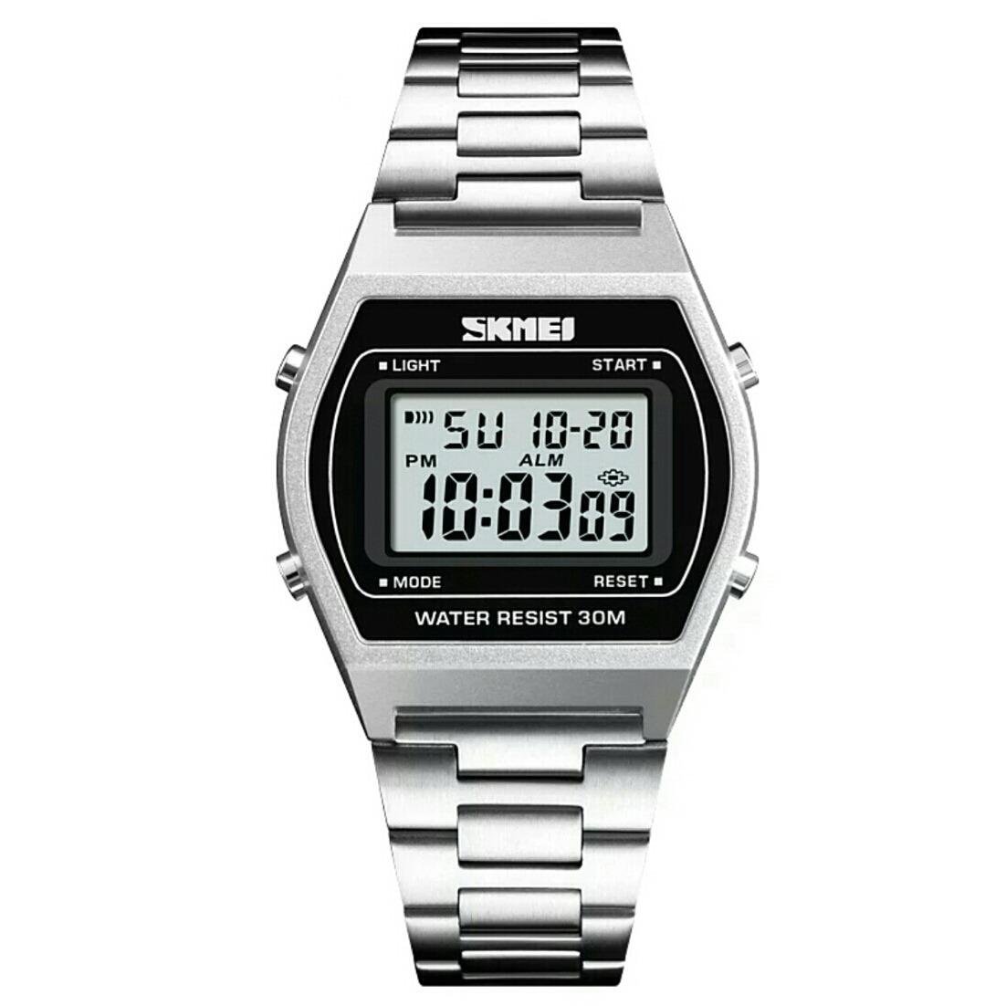 a282691656561 Relógio Esportivo Original Pulseira Prata Modelo Skmei 1328 - R  79 ...