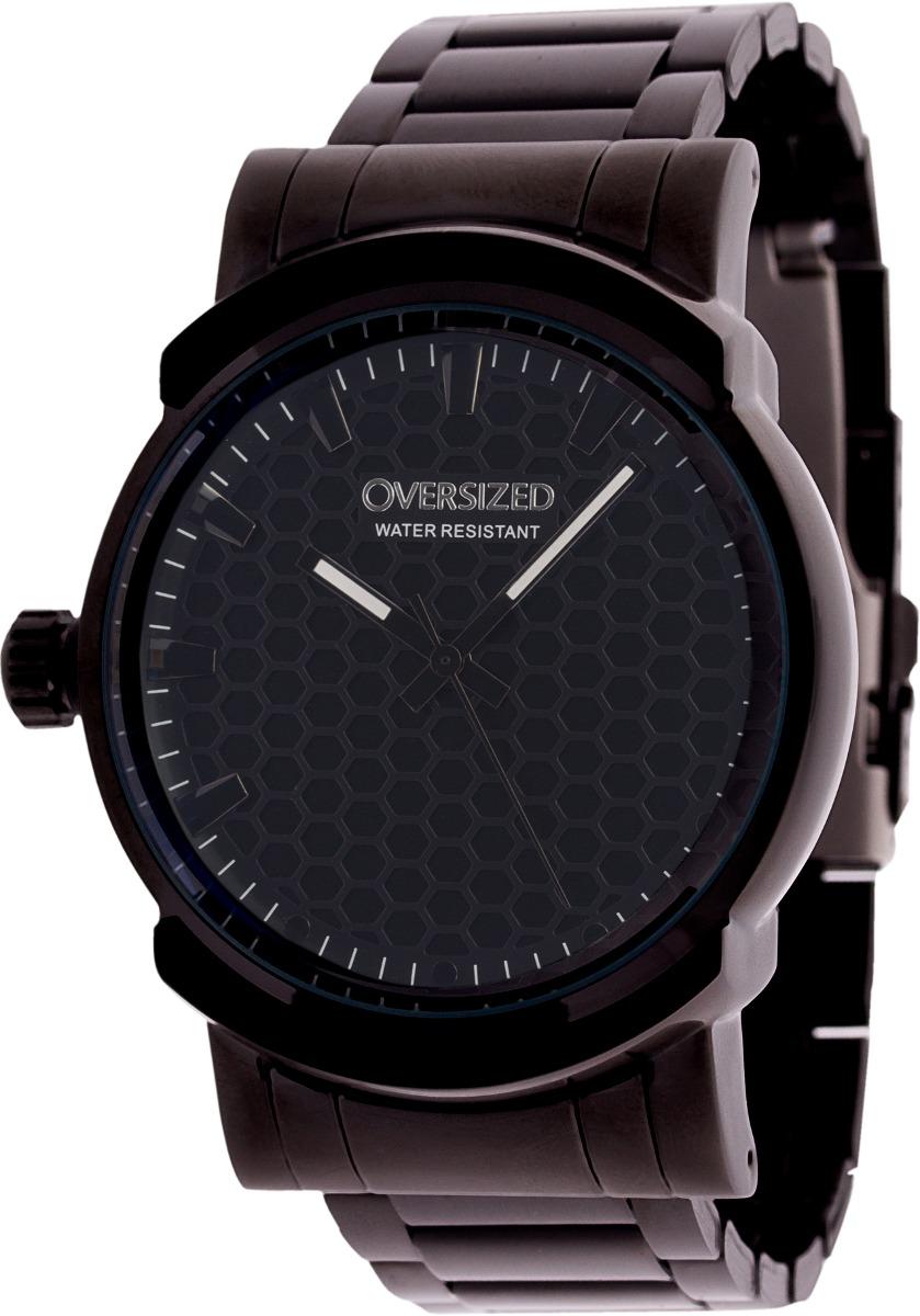 5c7bc4ce9e3 relógio esportivo oversized knockout 45mm dark+black. Carregando zoom.