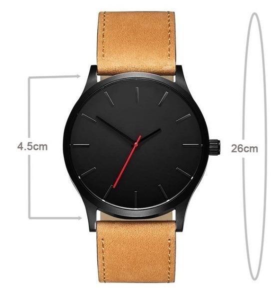 1802163bff8 Relógio Esportivo Quartzo Masculino Couro Marrom - R  99