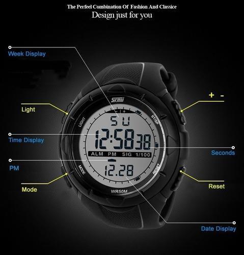 relogio esportivo skmei 1025 digital escalada mergulho 50m