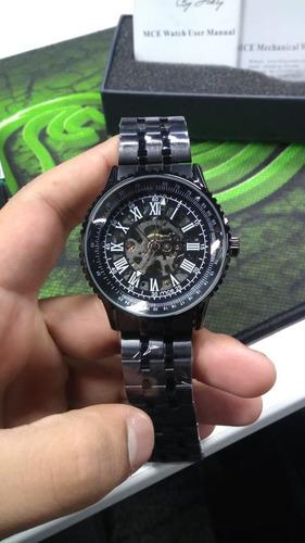 4fcaa6c6e9a Relógio Esqueleto Mce Importado Original - R  229