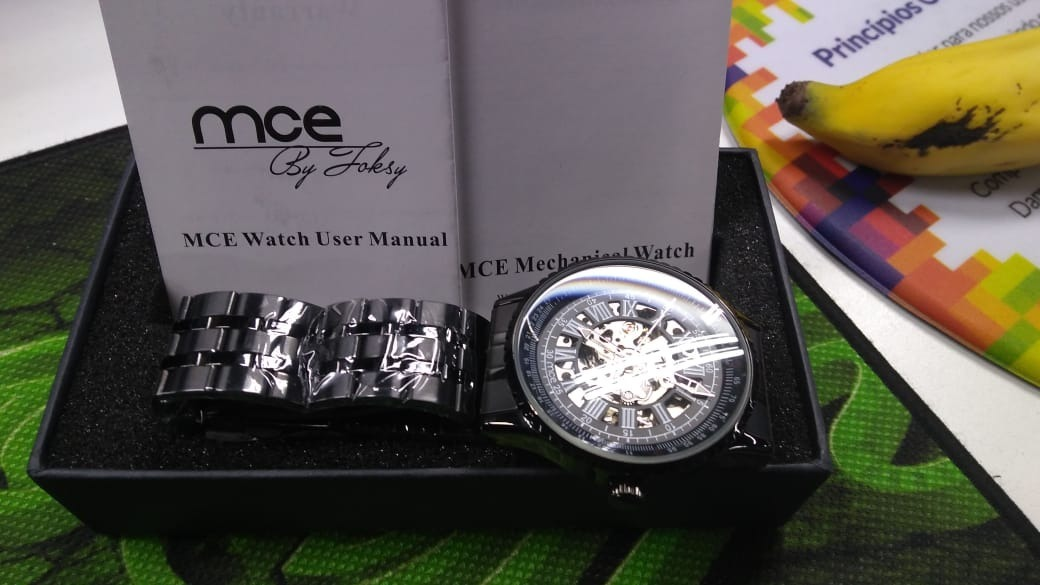 c97df1cf206 relógio esqueleto mce importado original. Carregando zoom.
