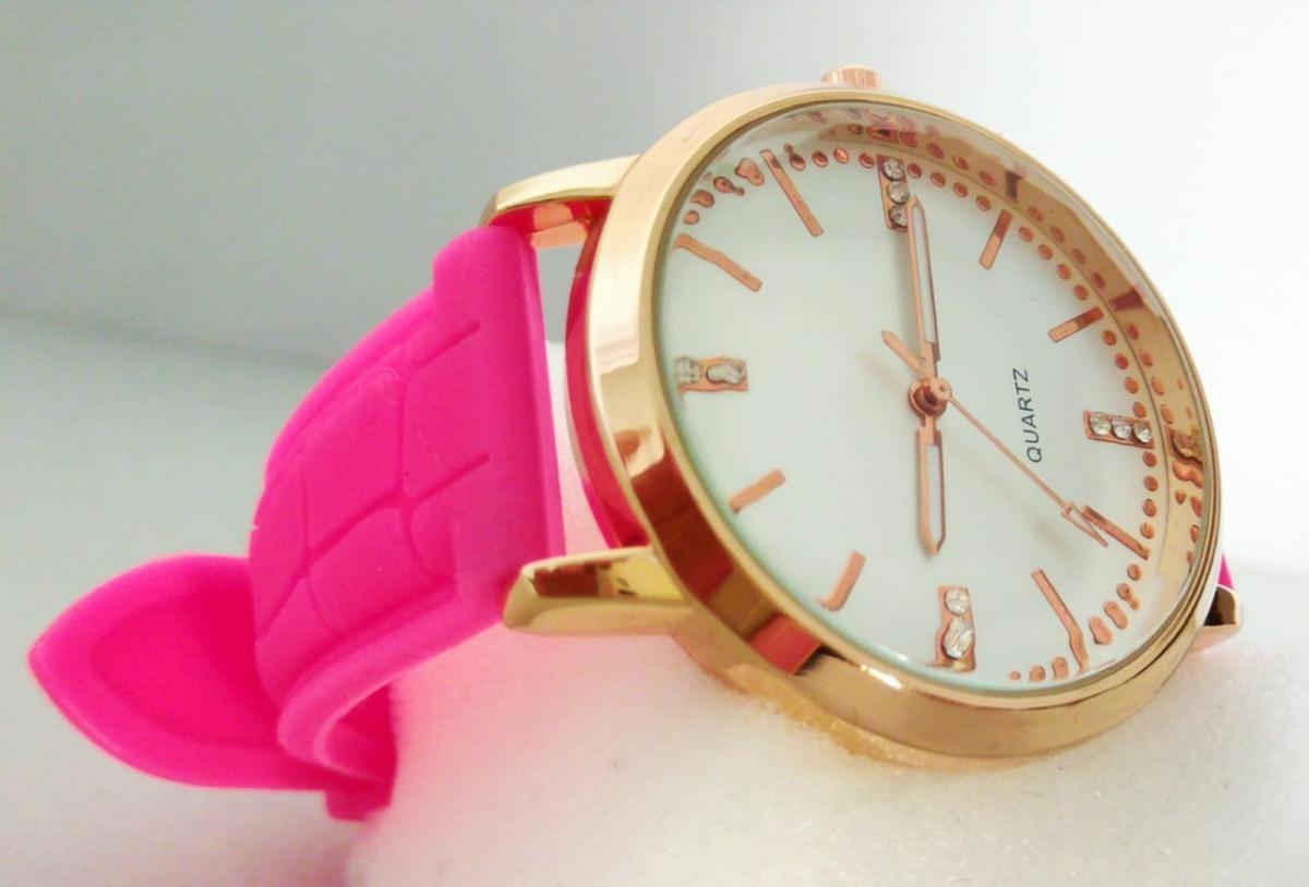 27807a8c5a2 relógio estiloso para mulher dia a dia de pulso pink dourado. Carregando  zoom.