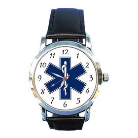 Relógio Estrela Da Vida Paramedicina Saúde Samu Prontosocorr