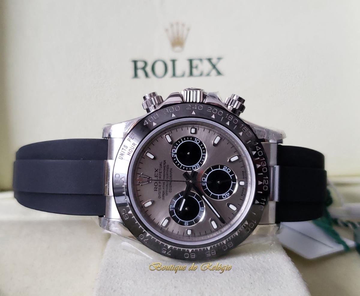 0394c54caca Relógio Eta - Mod Rolex Daytona Dial Cinza - Jh Best A4130 - R ...