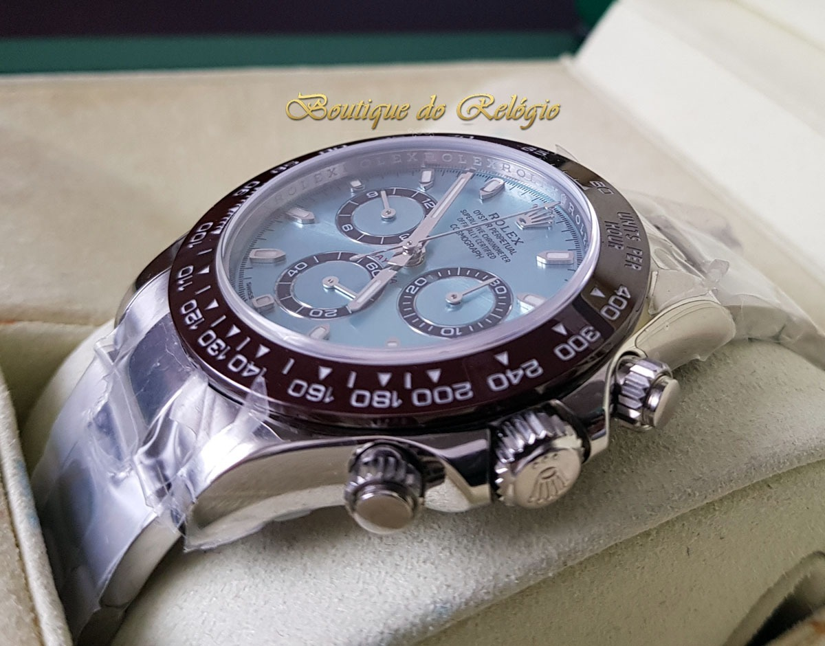 f54c71af825 Relógio Eta - Mod. Rolex Daytona Ice Blue Noob A4130 Fino - R  4.699 ...