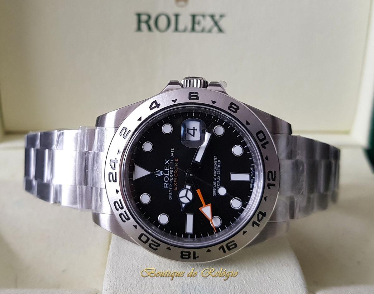 5da25eca005 relógio eta - mod. rolex explorer ii preto sa3187 - noob v7. Carregando  zoom.