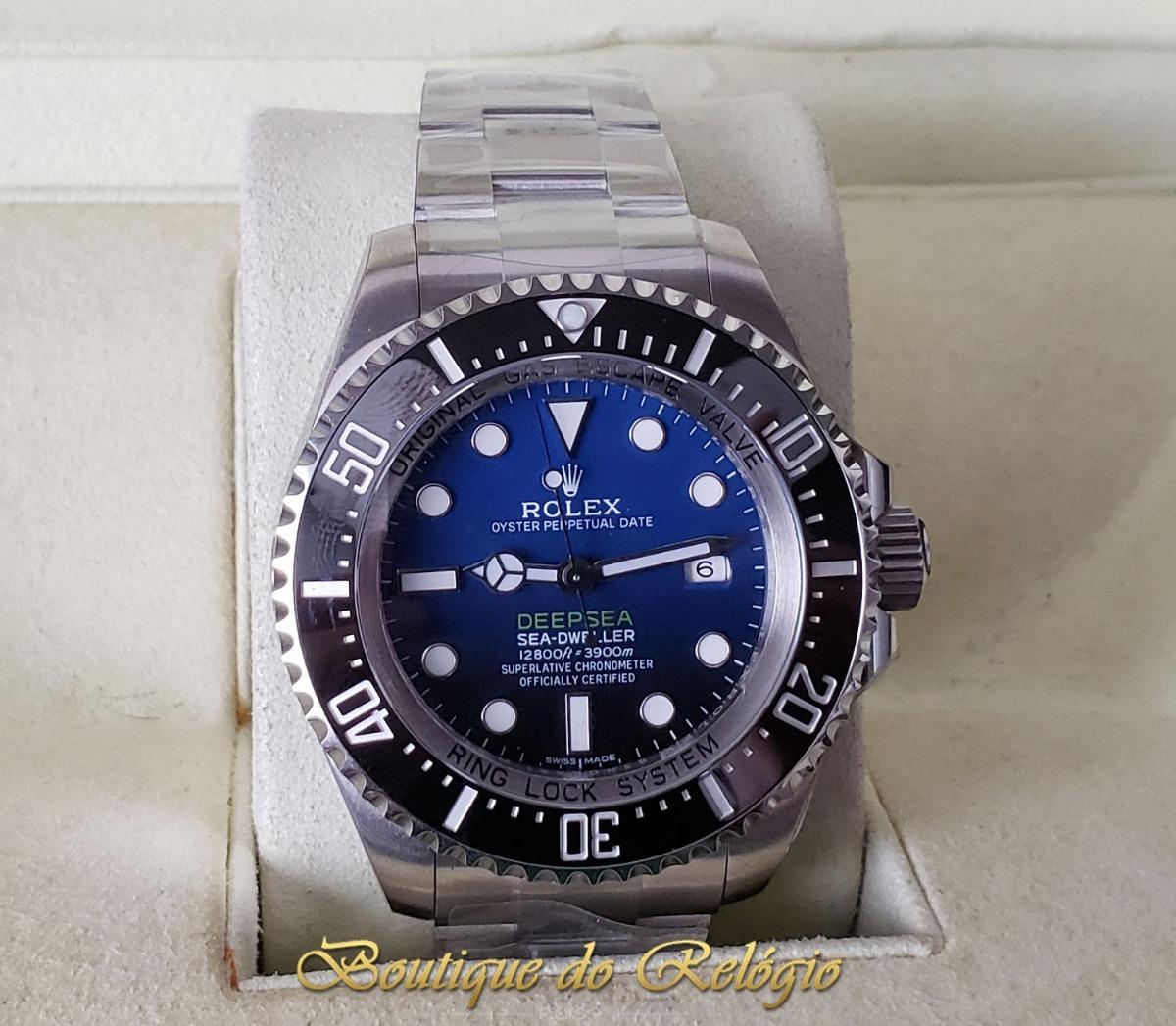 a0b0a245927 relógio eta - modelo deepsea d-blue sh3135 - arf aço 904l. Carregando zoom.