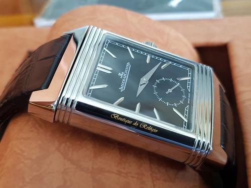 d2e4d247838 Relógio Eta - Modelo Jaeger Lecoultre Reverso Dial Preto.... - R ...