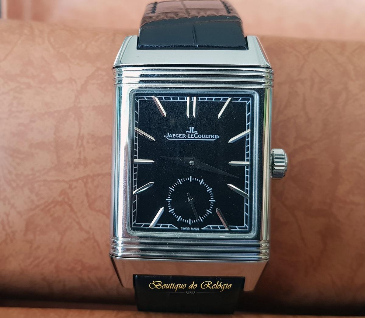 f7bdc08a94c relógio eta - modelo jaeger lecoultre reverso dial preto.... Carregando  zoom.