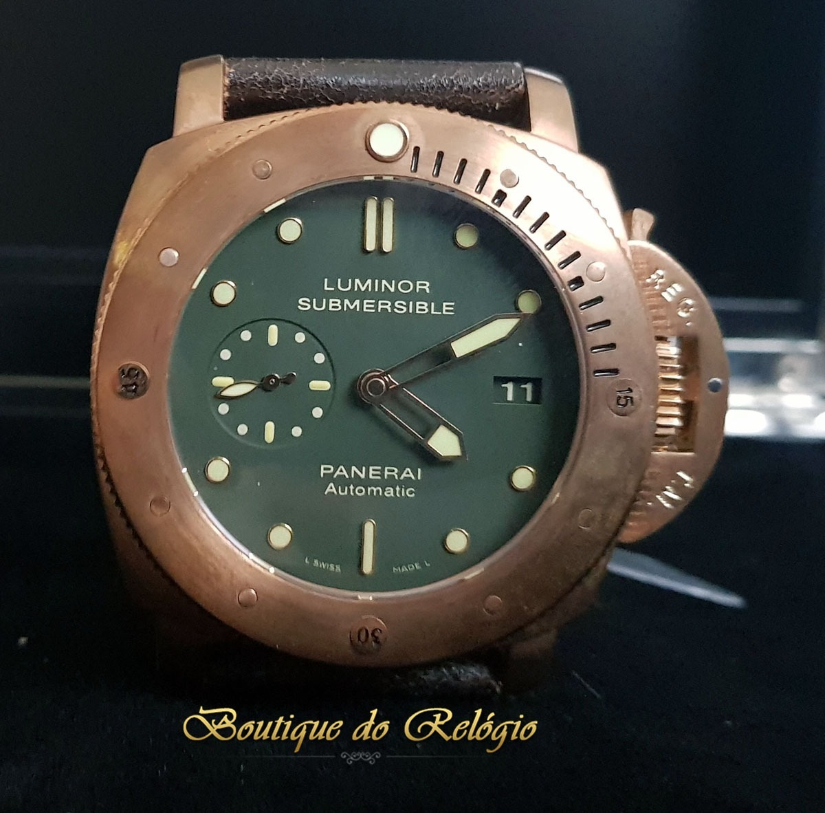 dbe84c5ba89 Relógio Eta Modelo Jf Submersible 1950 3 Days Bronzo - 47mm - R ...