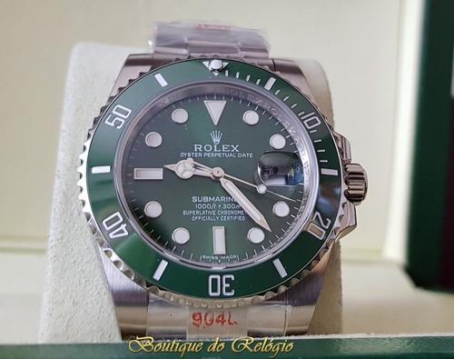 relógio eta - modelo submariner hulk sa3135 - aço 904 noob v9