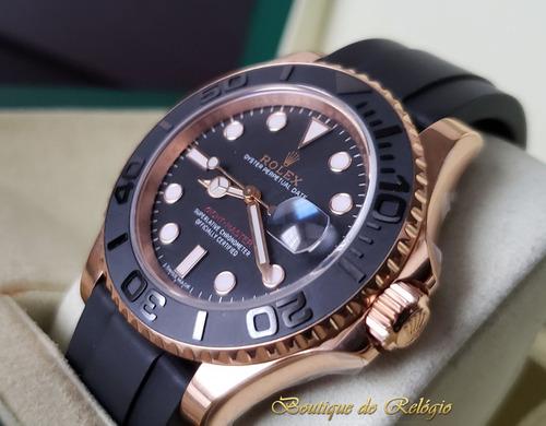 relógio eta - modelo yacht-master i gold - noob sa13135