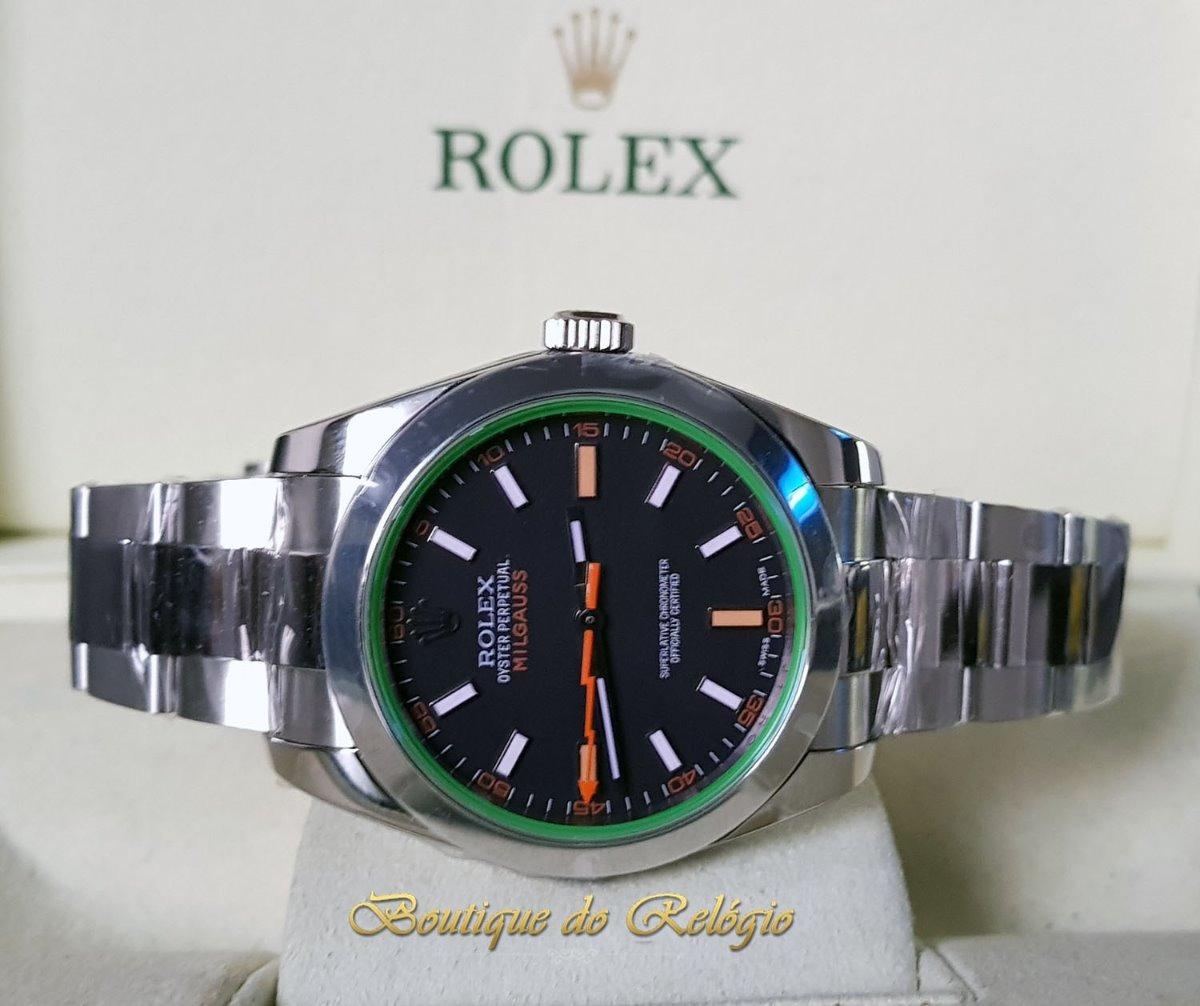 0dade985c05 Relógio Eta- Novo Milgauss Dial Preto Aço 904l Sh3131 - Arf - R ...