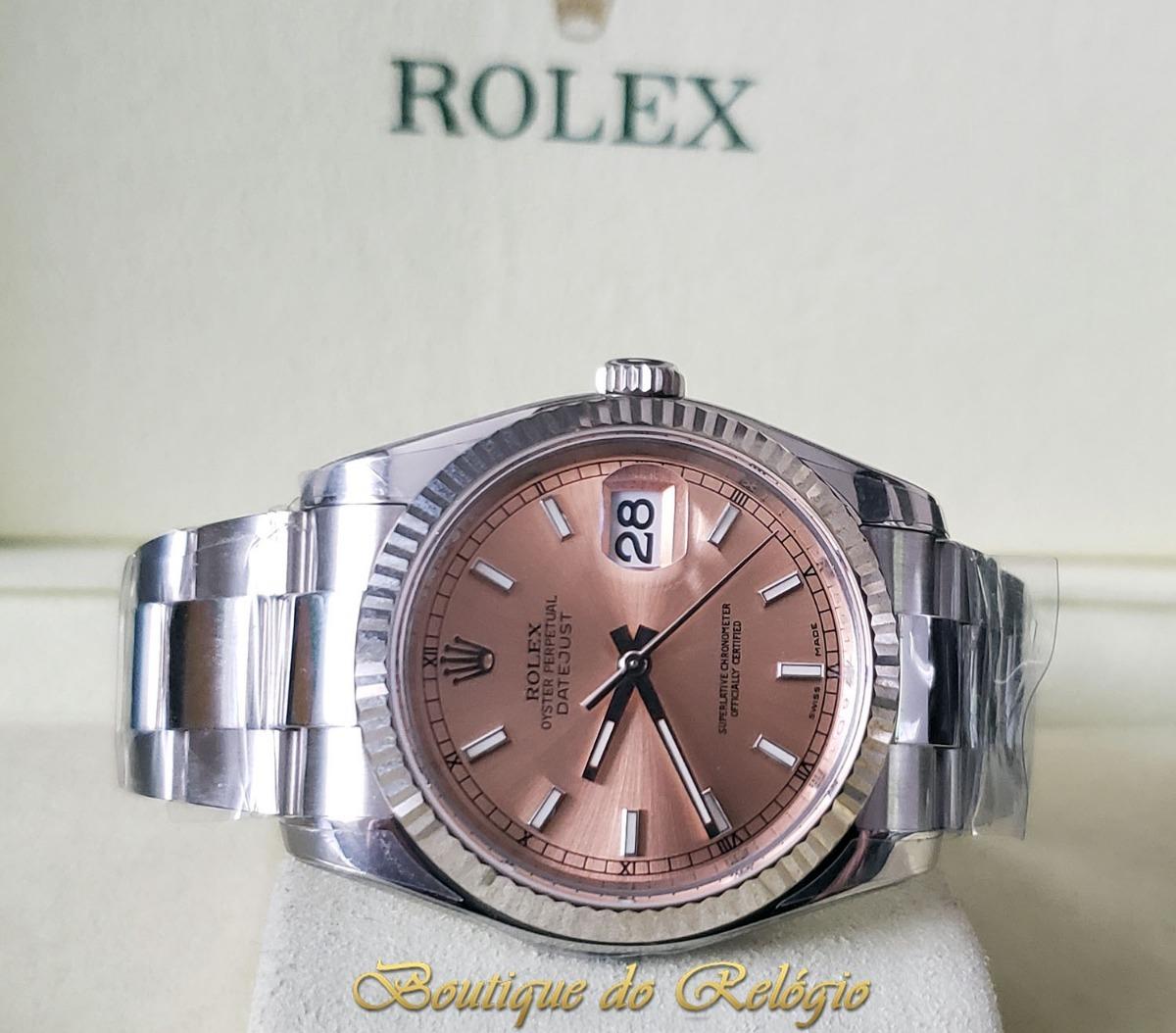 c5be7828e96 Relógio Eta Novo Modelo Datejust Dial Pink Arf Aço 904l 36mm - R ...