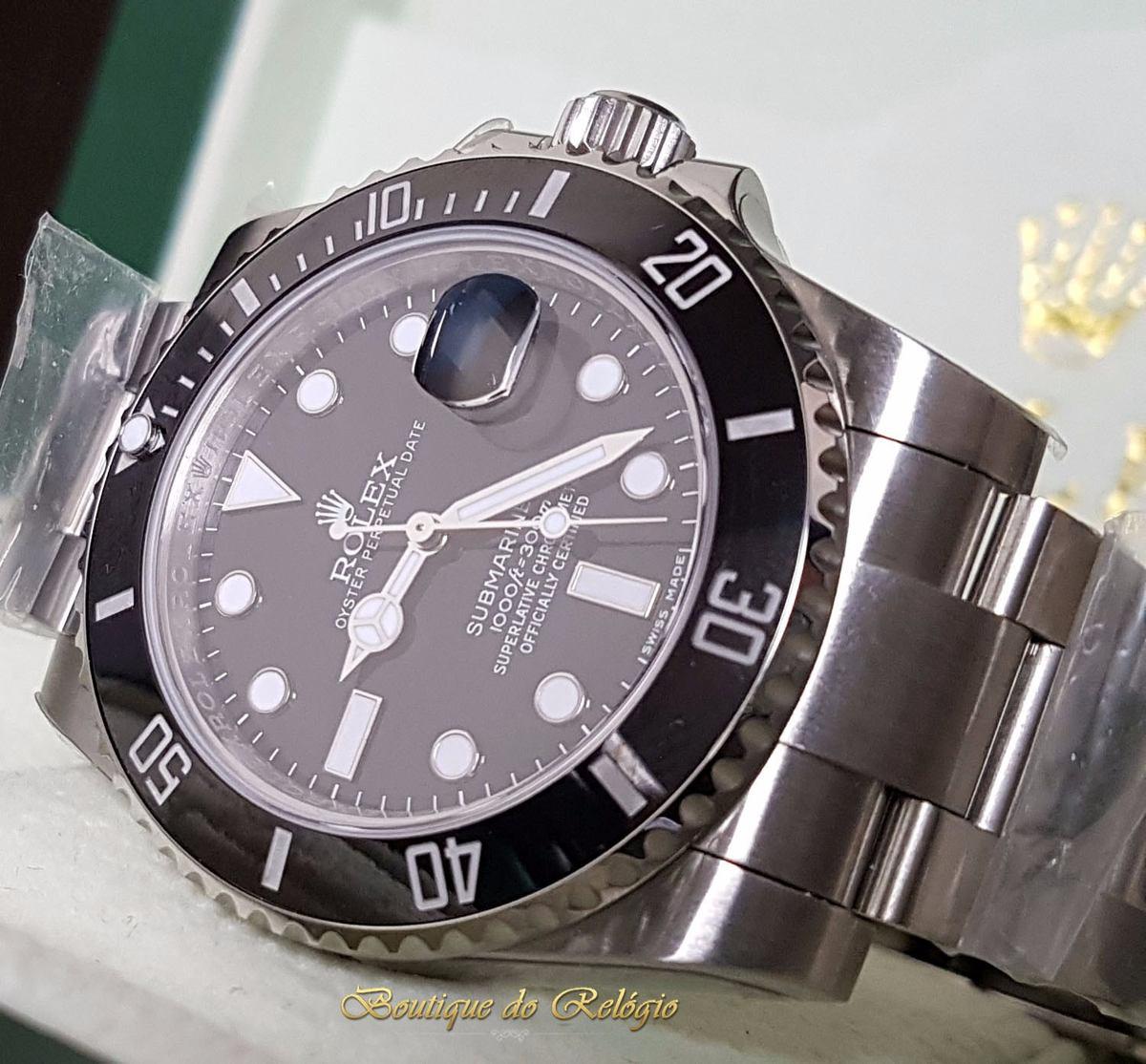 f8b712d98d3 Relógio Eta Sa3135 Submariner Preto Noob Best Edition V7 - R  2.999 ...