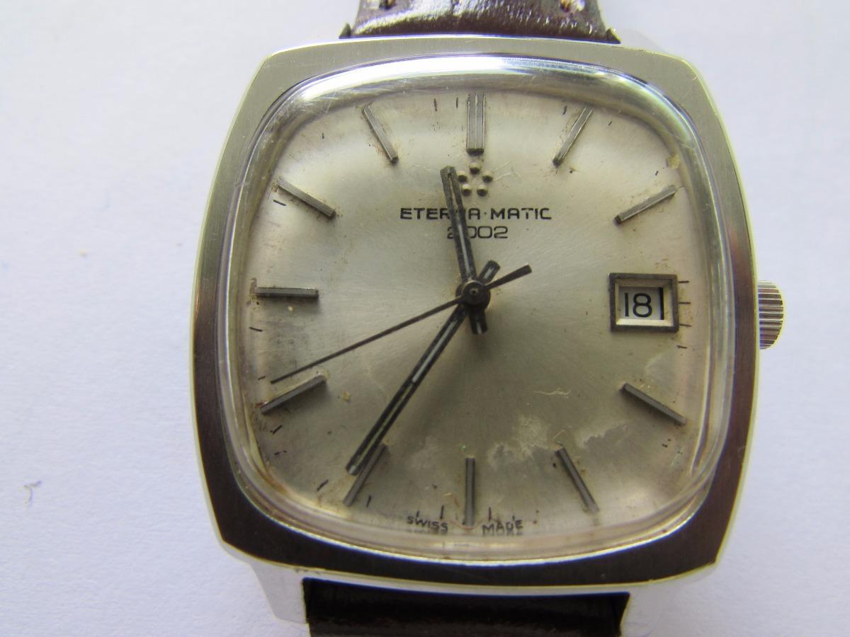 c2989190526 Relógio Eterna Matic 2002 Automático Made In Swiss. - R  1.100