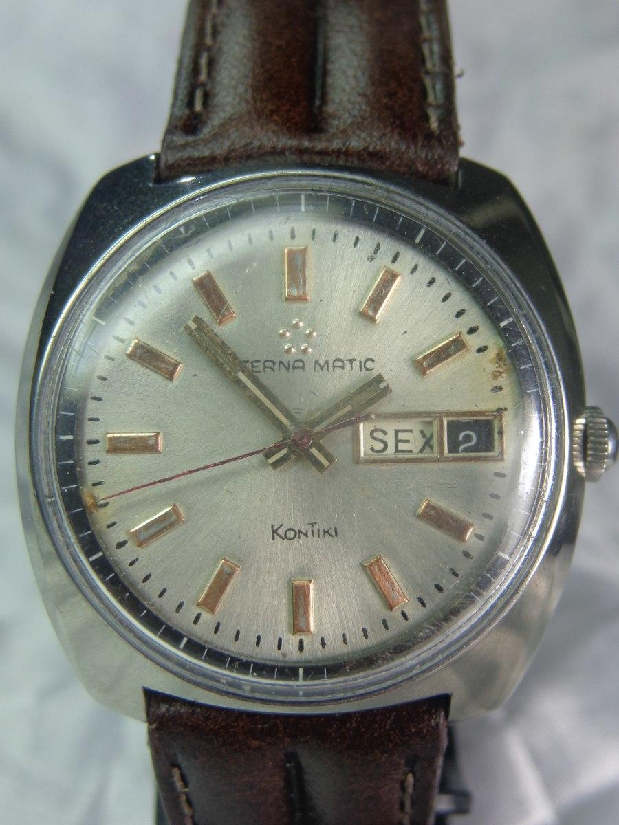 7f686f59464 relógio eterna-matik kontiki de 1965 garantia relogiodovovô. Carregando zoom .