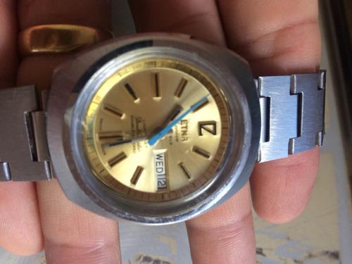 relógio etna suíço perfeita peça de coleção