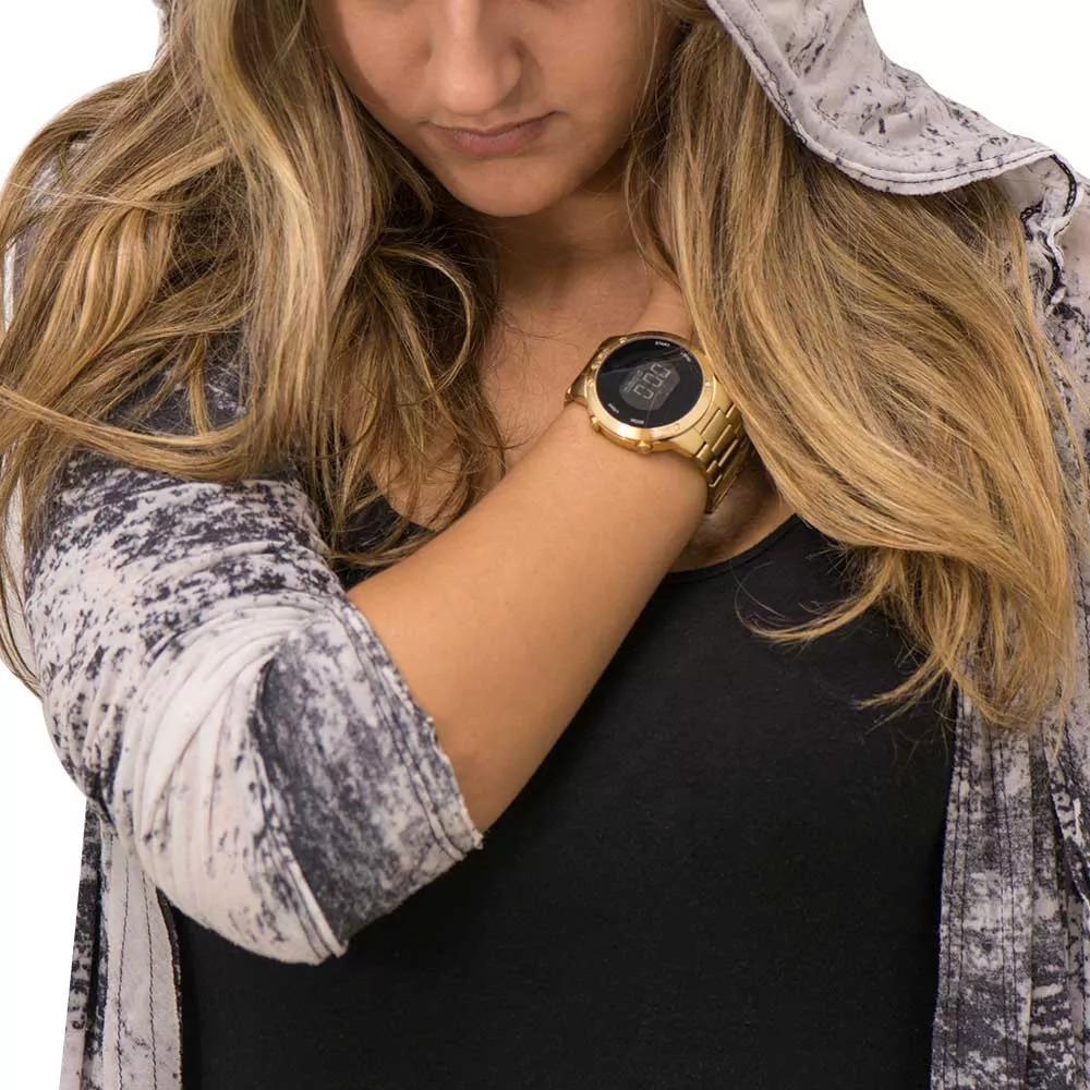 e691c13aa0ba7 relógio euro digital eubj3279aa 4d dourado sabrina sato. Carregando zoom.