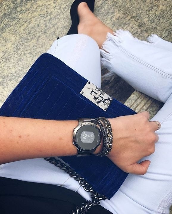e8e7dbf70656f Relógio Euro Digital Preto Eubj3279ab 4p Sabrina Sato - R  239