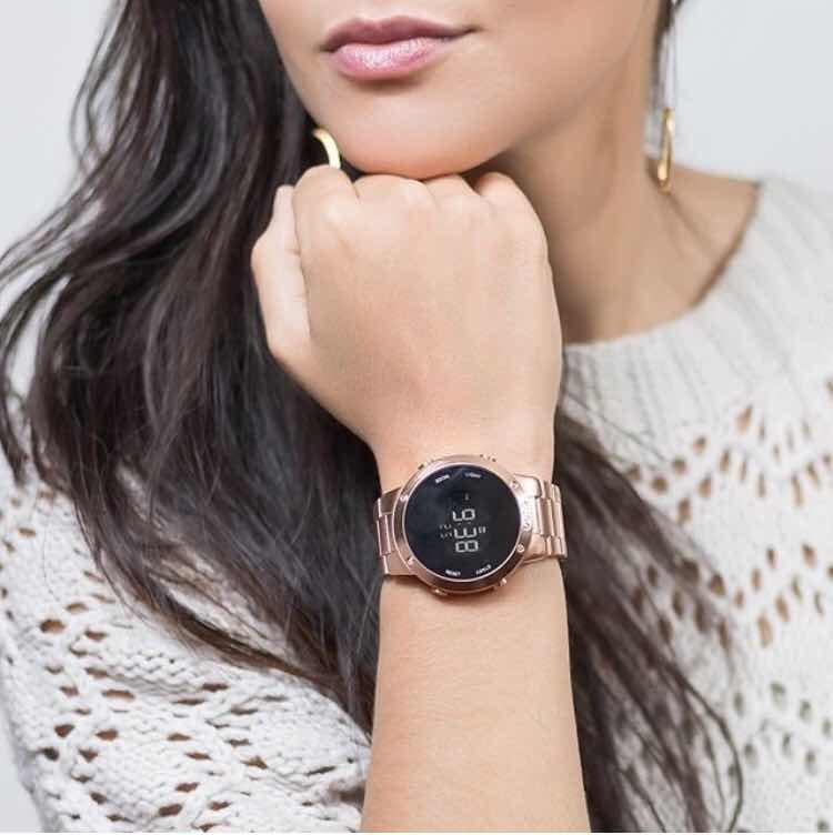 d3a5e2ebbc1 Relógio Euro Digital Rose Gold Eubj3279af 4j Sabrina Sato - R  239 ...
