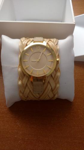 relógio euro - dourado