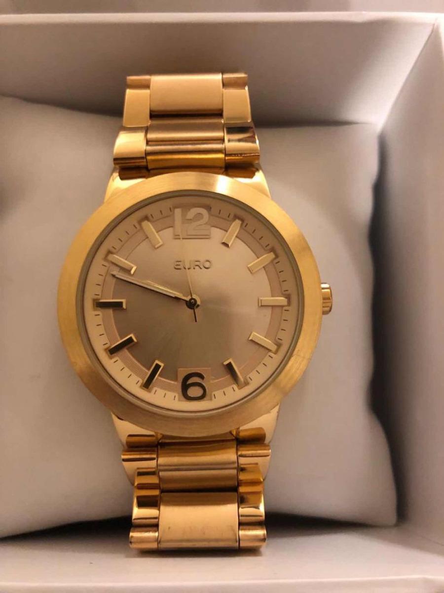 07694e64e9b relógio euro dourado. Carregando zoom.