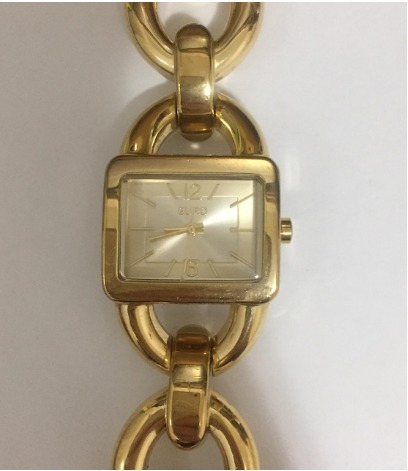 relógio euro dourado original seminovo