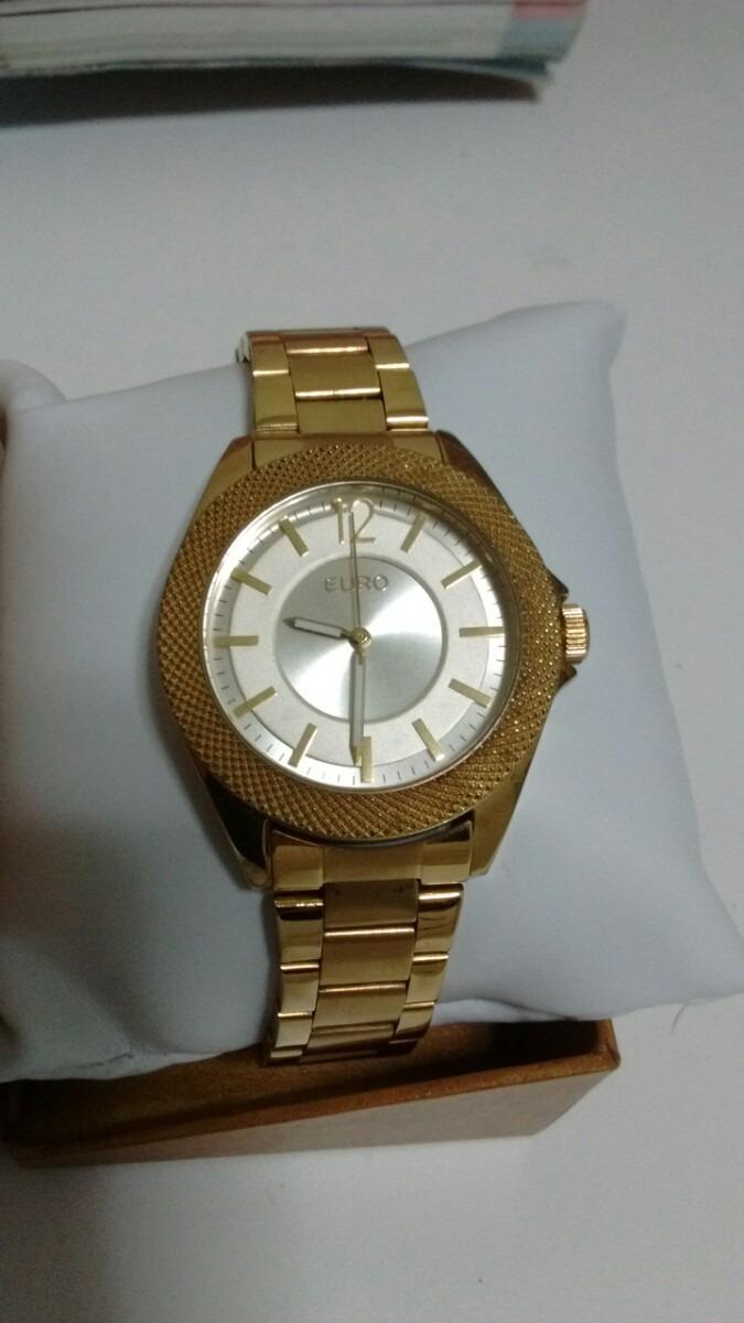 fb4430e7ff1 relógio euro dourado usado. Carregando zoom.