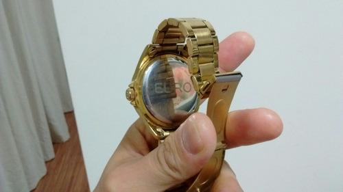 relógio euro dourado usado