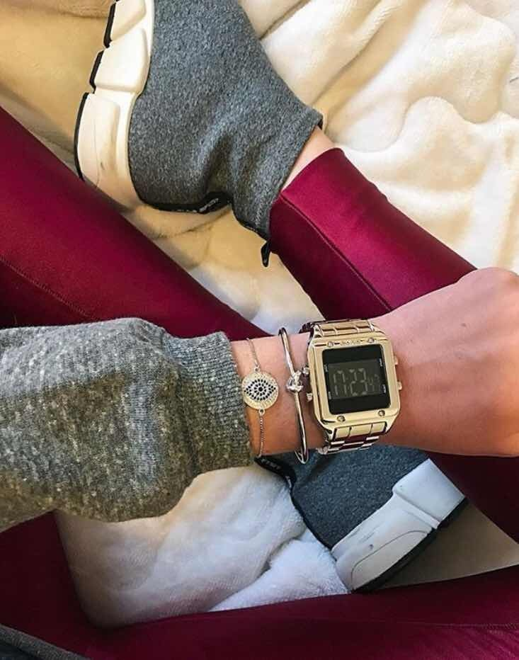 Relógio Euro Eug2510aa 4p Digital Dourado Fashion Fit - R  239,90 em ... 825dde51b4