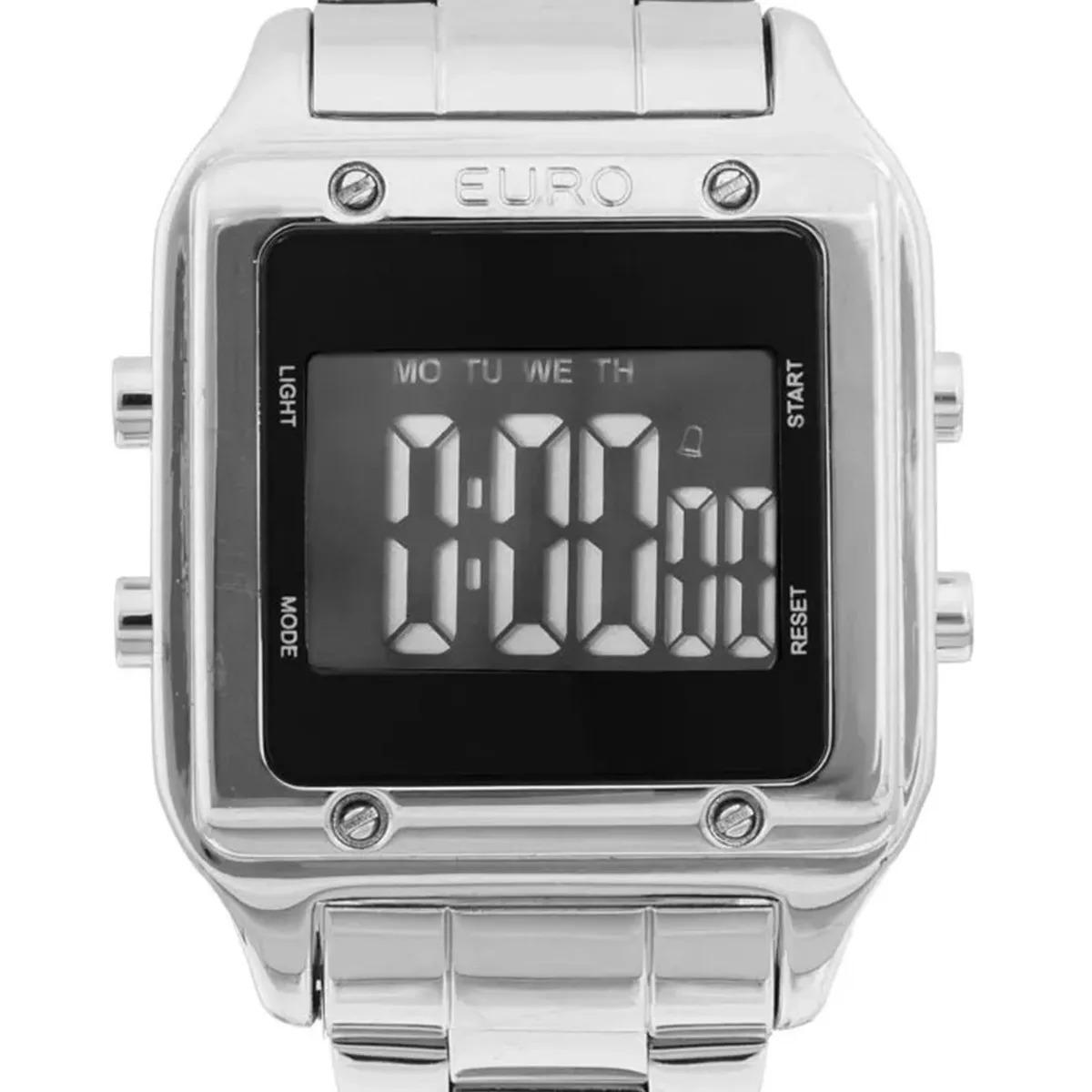relógio euro eug2510ab 3p digital quadrado prateado sabrina. Carregando  zoom. ab3f142a0c