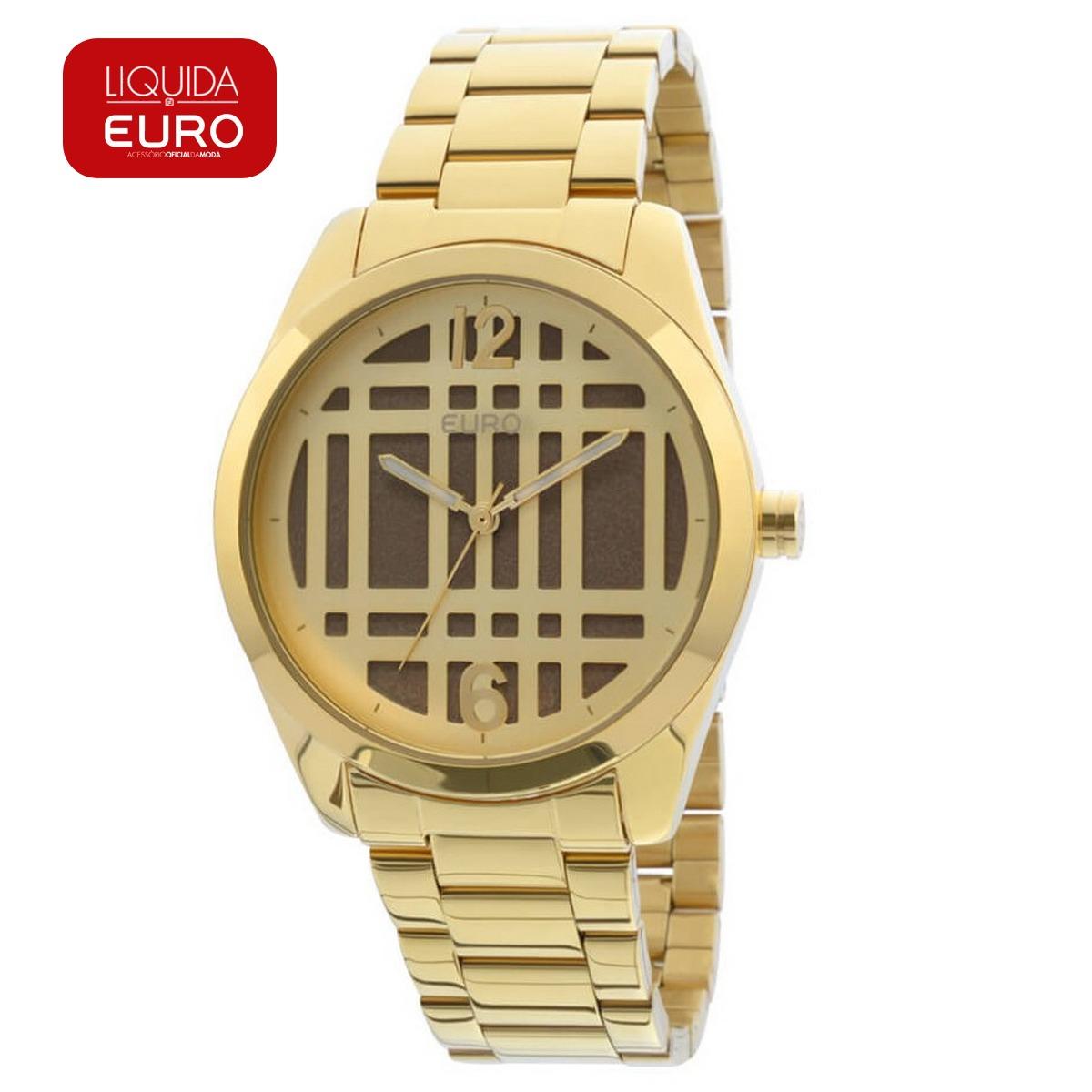 91e1bea6f95 Relógio Euro Feminino Dourado Analógico - Eu2039ih 4x - R  150