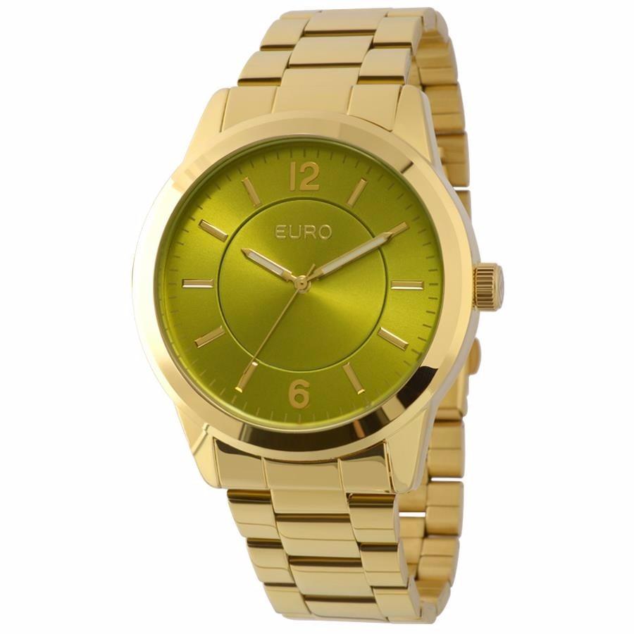 8a75ae9dca2 Relógio Euro Feminino Ref  Eu2036lzd 4v Fashion Dourado - R  249