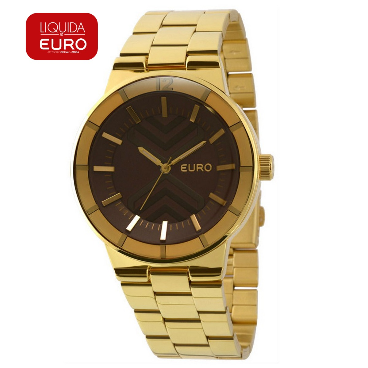 cef1689ebb0 Relógio Euro Fume Feminino Dourado Analógico - Eu2036lyr 4m - R  167 ...