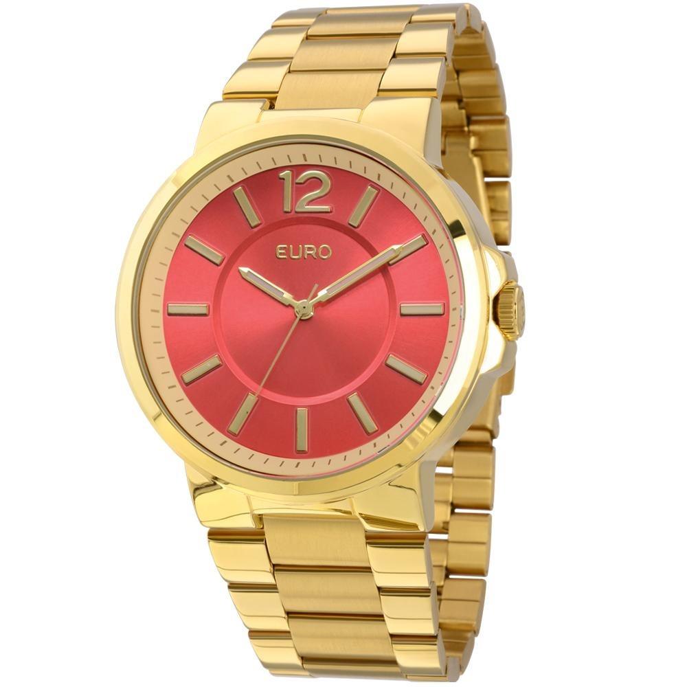 52d2e2e9c94 Relógio Euro Feminino Opole Eu2035lxm 4r - Dourado - R  174