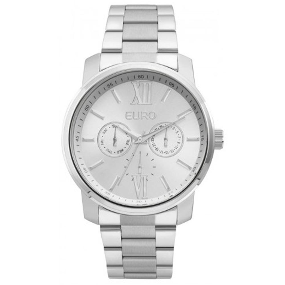 63a489285daf1 Relógio Euro Metal Trendy Feminino - Prata - R  464