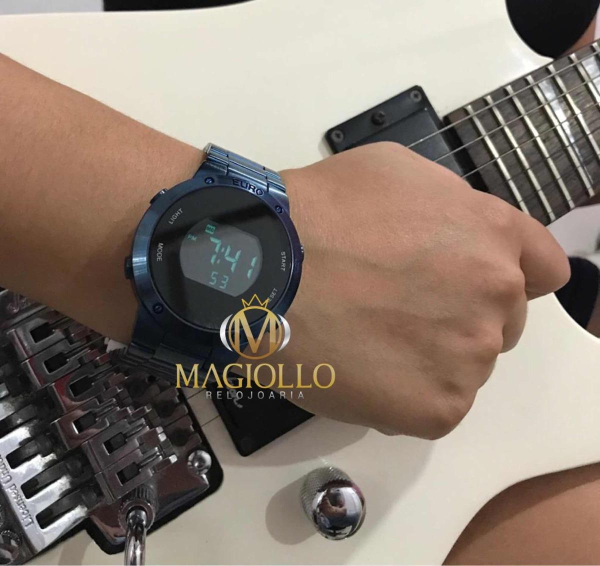 7685b50056a relógio euro feminino digital azul eubj3279ac 4a - original. Carregando  zoom.